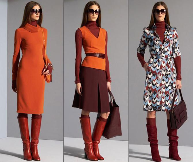 Зимний модный цвет одежда